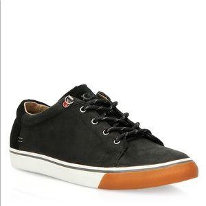 Ugg Brock Black White Leather Sneaker Mens 12 New